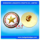 Divisa modificada para requisitos particulares del Pin de metal del esmalte con efecto del chapado en oro