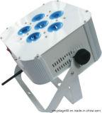 6*10W RGBW 4 dans 1 PARITÉ plate sans fil de l'étape Light/LED de PARITÉ de la batterie DEL de DEL peut