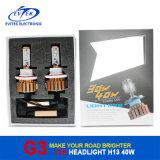 Farol 40W H13 3600lm do diodo emissor de luz novo do carro/caminhão do farol 3500lm da motocicleta do diodo emissor de luz da chegada, farol dourado H13 do diodo emissor de luz do carro G3