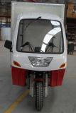 Motocicleta da roda do recipiente três