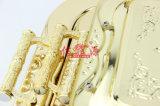 Bandeja de la porción del chapado en oro del acero inoxidable (FT-0630)