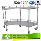 Carretilla del hospital del tratamiento médico del metal (CE/FDA/ISO)