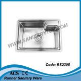 De enige Gootsteen van de Keuken van het Roestvrij staal van de Kom (RS2301)