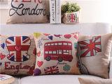 Descanso britânico retro do coxim da cintura do carro do coxim do sofá do estilo da caixa do algodão