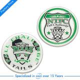 Pièce de monnaie faite sur commande d'enjeu du logo 3D de souvenir principal de forme