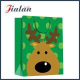 Bolso de papel impreso ventas al por mayor de encargo baratas del conjunto de la Feliz Navidad de la manera