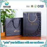 Logotipo de impressão de luxo Black Matte Retail Paper Gift Shopping Bag