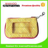熱い販売の女性のための明確なWindowsが付いている古典的なキャンバスの札入れ袋