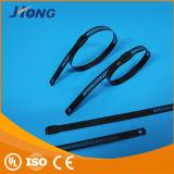 Edelstahl-Strichleiter-Kabelbinder (einzelne Widerhaken-Verriegelung) (Epoxy-Kleber/Polyester beschichtet)