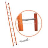 Échelle d'acier ou en aluminium/en aluminium droite d'échafaudage d'opération