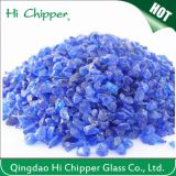 Puces écrasées par décoration en verre de bleu de cobalt