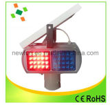 Indicatore luminoso d'avvertimento infiammante del LED del segnale stradale dell'indicatore luminoso di traffico solare dello stroboscopio