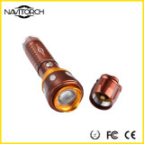Liga de alumínio 260 lúmens que giram a luz da tocha do foco (NK-677)