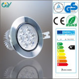 6000k 7W Aluminum DEL Down Lighting avec du CE RoHS