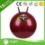Bola animosa de la bola de la tolva de la bola de salto de la bola del ejercicio con la maneta