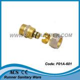 Pex 알루미늄 Pex 관 (F01A-601)를 위한 금관 악기 압축 이음쇠
