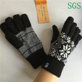 Перчатки зимы перчаток Knit экрана касания перчаток полиэфира мальчиков девушок способа зимы акриловые связанные Striped в свободно образце