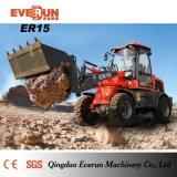 Parte frontale Loader Er15 di Approved del CE di Everun con Rops&Fops Cabin