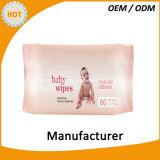 ふたが付いている生れの赤ん坊のワイプから適した80PCS