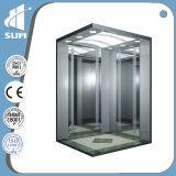Edelstahl Cabin Passenger Elevator der Drehzahl-1.5m/S Mirror