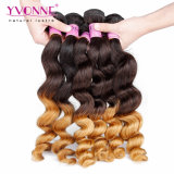 O cabelo de Remy da cor de Ombre da alta qualidade tece o cabelo humano peruano