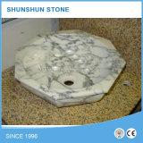 Китайская Polished белая раковина ванной комнаты мрамора Onyx