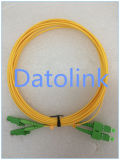 Duplex los 5m LSZH 2.0m m de la cuerda de remiendo E2000/APC- LC/Upc SM