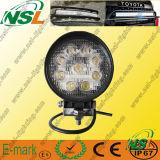 Lámpara de trabajo LED accesorios del coche 27W inundación, 4 * 4 en el terreno para camiones ligeros