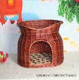 Doppelte Fußboden-Potenziometer-Art-Bambushaustier-Nest, Haustier-Haus, Haustier-Haus