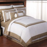 Hotel italiano Satin Stitch White Duvet Cover Traditional Duvet Covers e Duvet (DPFB8085)