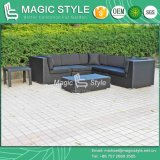 Sofá de canto de vime do sofá simples de vime moderno ajustado ao ar livre do pátio do sofá do sofá do Rattan ajustado (estilo mágico)