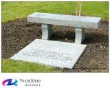 Pierre tombale américaine de banc de granit de noir de type, pierre tombale