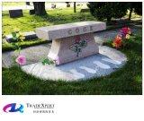 Pietra tombale americana del banco del granito del nero di stile, lapide