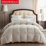 De tela de seda da tampa do pato Comforter branco luxuoso para baixo para o hotel de 7 começos