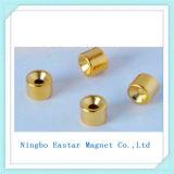 Магнит неодимия плакировкой золота N35 постоянный с формой чашки