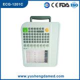 Doze CE ECG-E1201c aprovado da máquina de Digitas ECG da canaleta