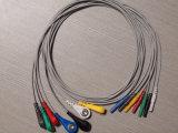 Estruendo Redel. Cable del tronco ECG del plástico 7p Snap&Clip
