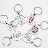 Alloy all'ingrosso Rotatable Keyring per Promotion Gift (Kr)
