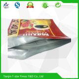 Aluminiumfolie-lamellierter mit Reißverschluss Fastfood- Kunststoffgehäuse-Beutel