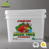 10リットルの食品等級の長方形のふたおよびハンドルが付いているプラスチックバケツのフルーツのバケツ