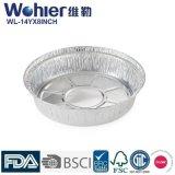 Dimensión de una variable oval profunda de plata de la categoría alimenticia de la cacerola/del envase de la asación del papel de aluminio para la hornada de la empanada