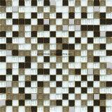 白いSquare Ceramic及びStainless Steel MosaicのGlass Mosaic