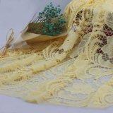 衣服のアクセサリのための黄色い花の化学レースの刺繍のレース
