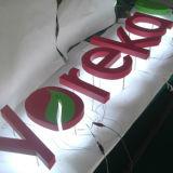 장비를 광고하는 스테인리스 표시를 점화하는 달무리 LED