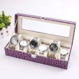 Коробка wristwatch PU Eco-Friendly шлицев Croco 6 кожаный для человека