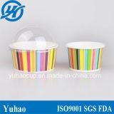 Yaourt surgelé imprimé par coutume, tasse de papier de crème glacée glacée (YH-L64)
