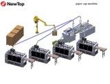 機械を形作る熱く、冷たい紙コップ