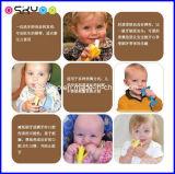 Toothbrush infantil do treinamento do silicone da banana do bebê