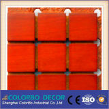 Materiais de madeira Microporous do Soundproofing do painel acústico do MDF
