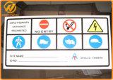 Aluminiumplatte passen Drucken-reflektierender Verkehrs-Warnzeichen an